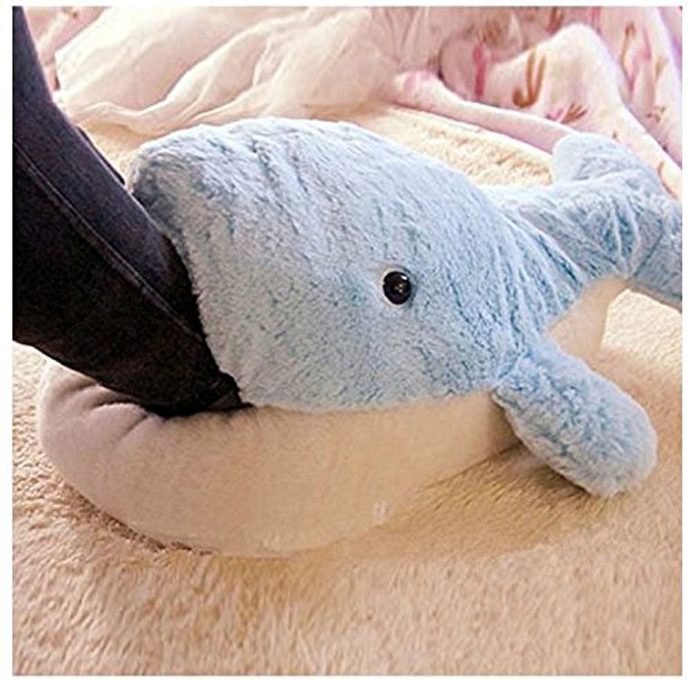 Dolphin Blue Winter Warmth Household Warmth Plush Slippers