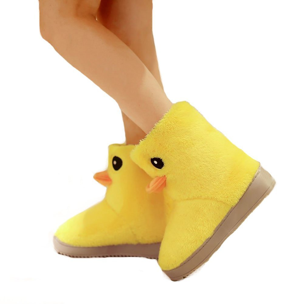 Lovely Rubber Duck Slippers Winter Warm Slippers