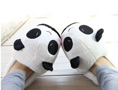 Stuffed Cuddly Panda Winter Novelty Slippers