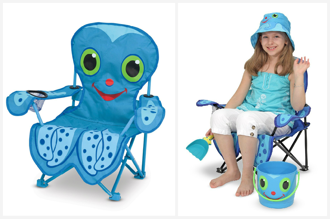 Octopus foldable chair for kids