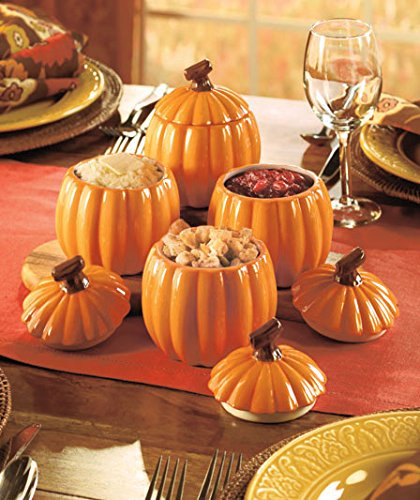 Pumpkin Jars Thanksgiving  Dining Table Decor