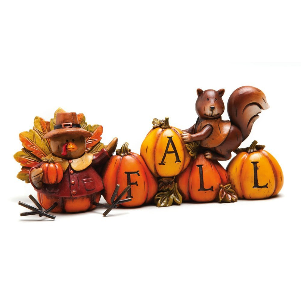 Thanksgiving Turkey and Squirrel Table Decor