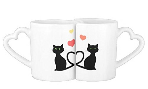 Cats in Love White Ceramic Lovers Mugs