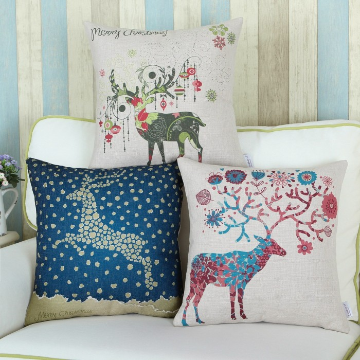 Attractive Christmas Throw Pillow Covers Home Designing