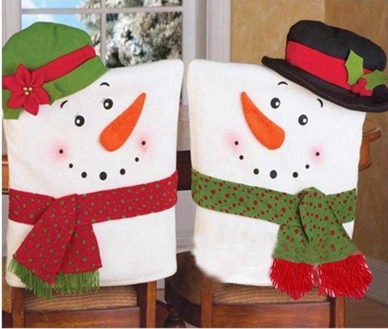 Christmas Snowman Christmas Chair Covers