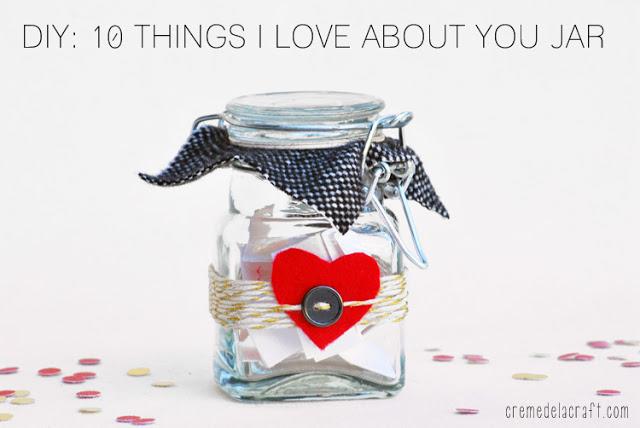 Craft Gift Reasons Why Love You Mason Jar