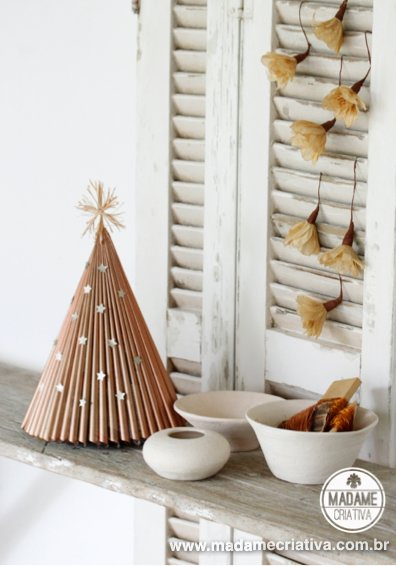 DIY Golden Christmas Tree