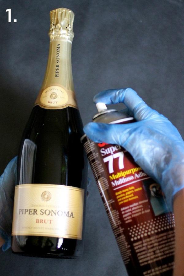 DIY Wine Bottle Decor Steps