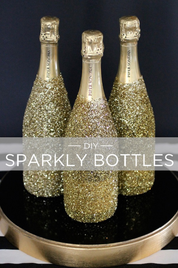 DIY Wine Bottle for New Year Party