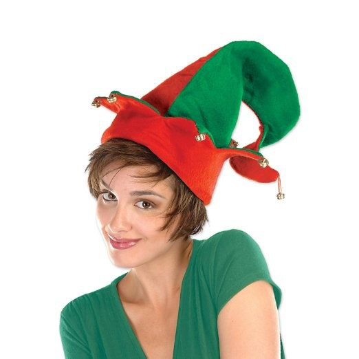 Christmas Felt Elf Hat with Bells