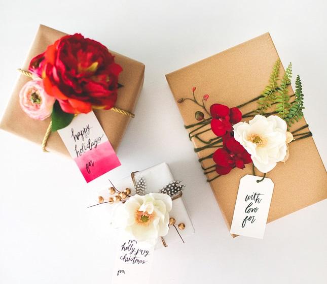 Fresh Flower Gift Wrap