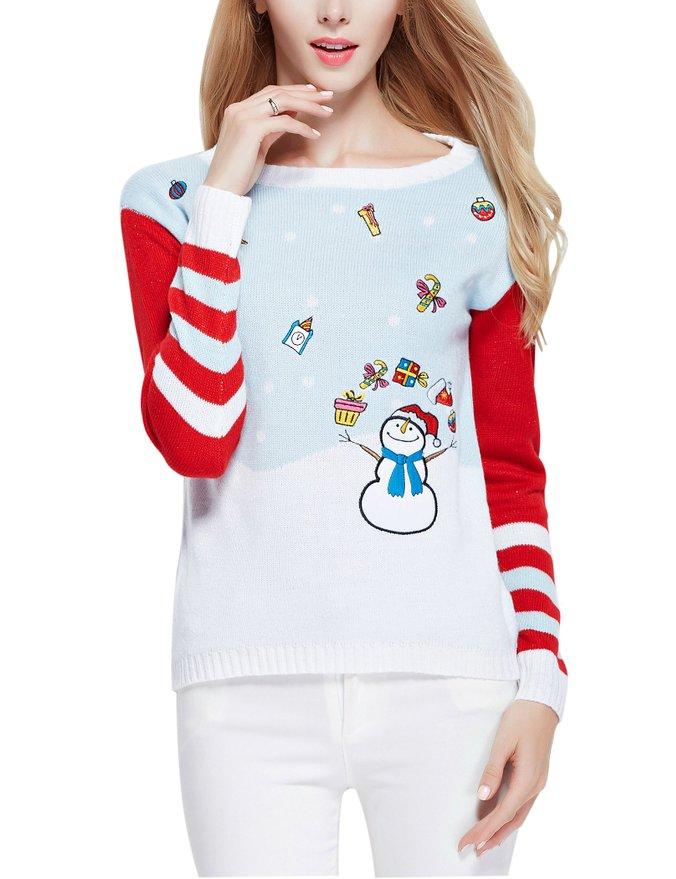 Girl Christmas Cute Santa Pullover Sweater Jumper