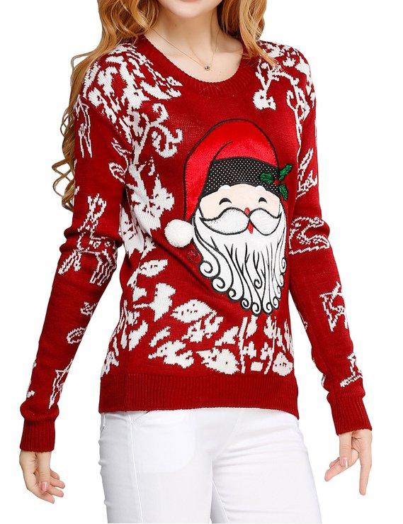 Girl Christmas Santa Ugly Jumper