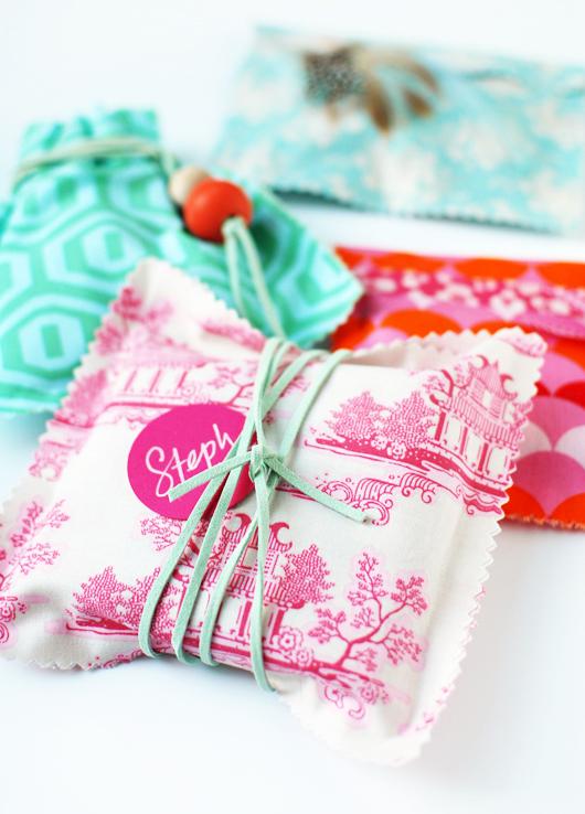 Handmade Fabric Gift Bag