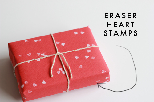 Heart Shaped Stamps for Gift Wrapping