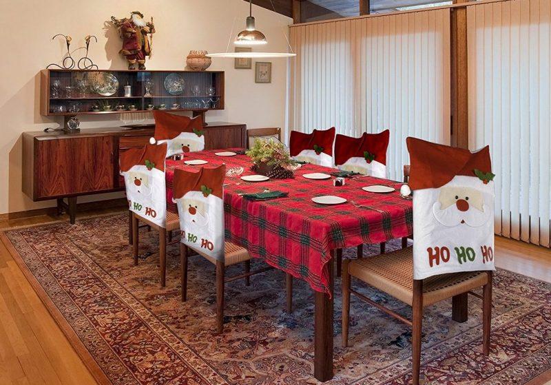 Ho Ho Ho Christmas Dining Room Chair Covers