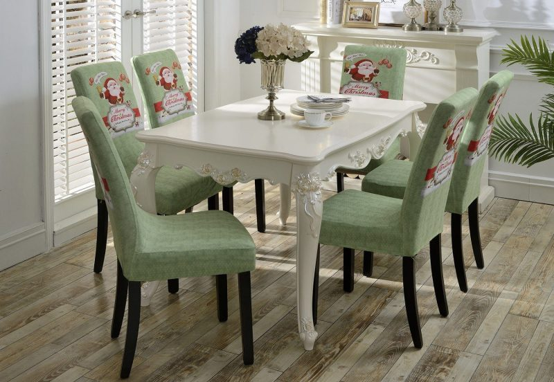 Holiday Dining Room Chair Covers Green