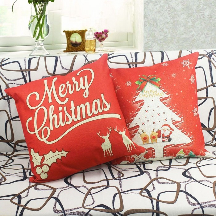 Homar Throw Pillow Covers - Merry Christmas