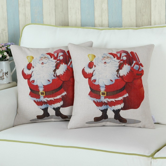 Home Decorative Cushion Covers Pillows Blend Merry Christmas