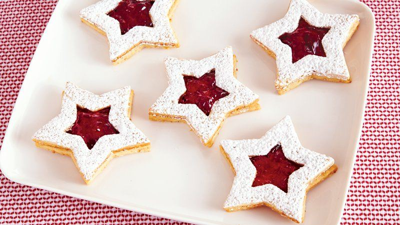 Linzer Star Christmas Cookies