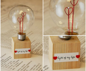 Handmade Heart Love Bulb