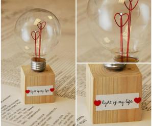 Handmade Heart Love Bulb