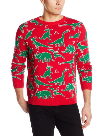 Men's Dinosaur Ugly Christmas Sweater