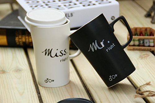 Mr & Miss Couple Coffee Mugs