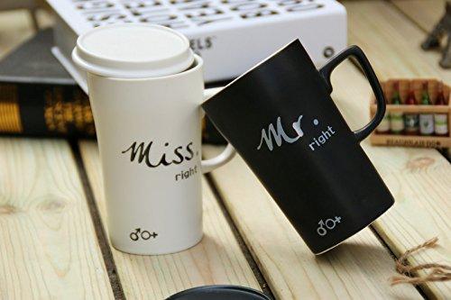 Mr & Miss Couple Coffee Mugs