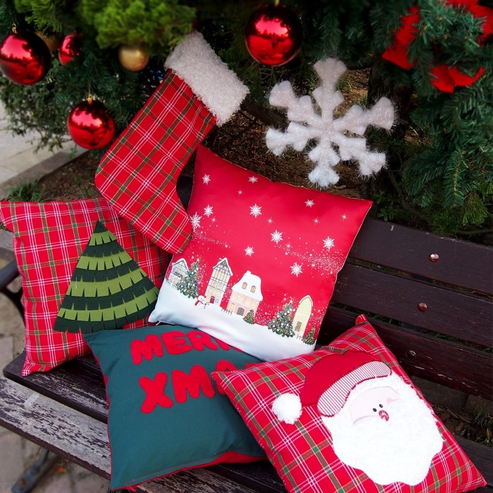 Pillow Case Cushion Cover 3D Christmas Tree