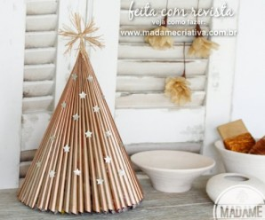 Easy DIY Golden Christmas Tree