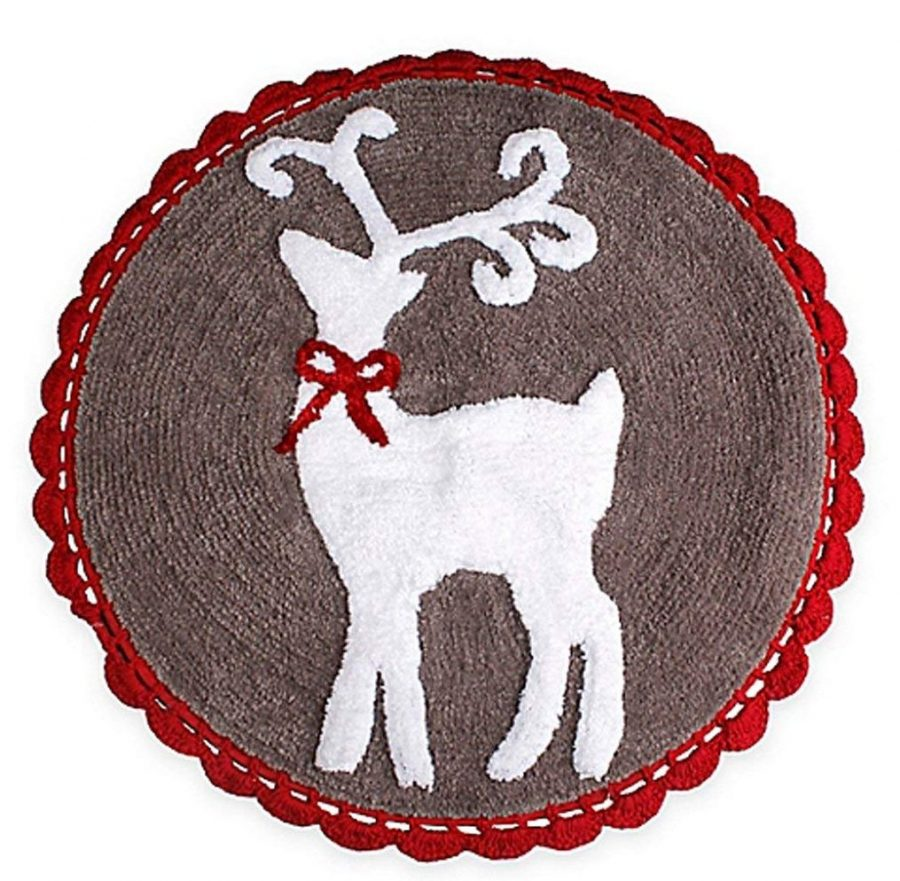 Reindeer Games Christmas Bath Rug