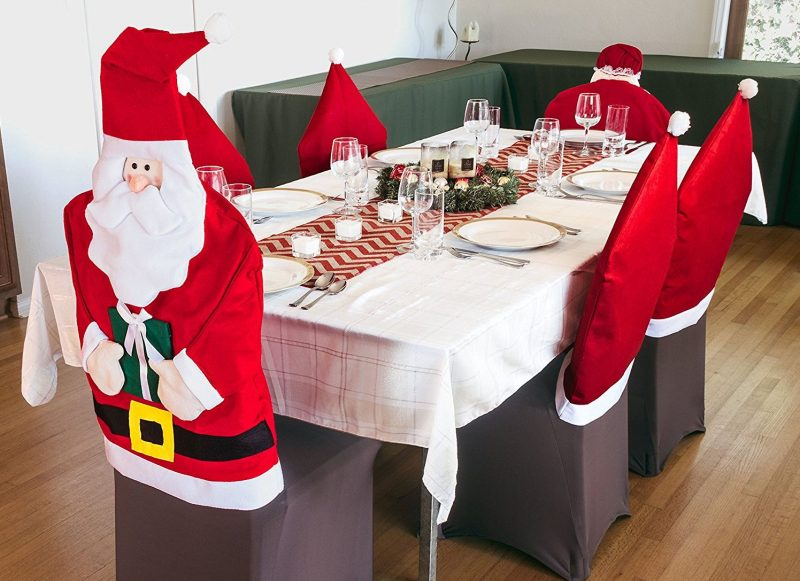 Santa Dining Room Chair Cover