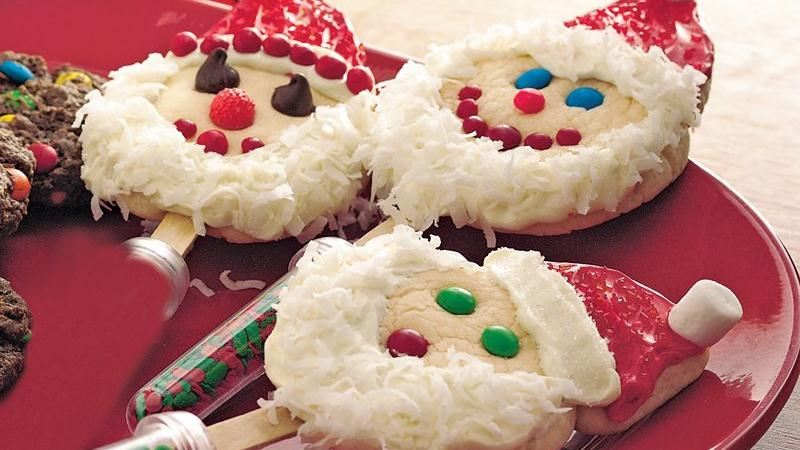 Santa-on-a-Stick Cookies
