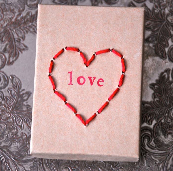 Stitched Heart Box
