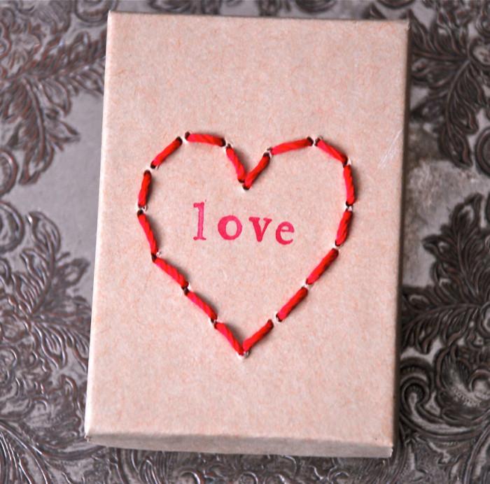 Stitched Heart Box
