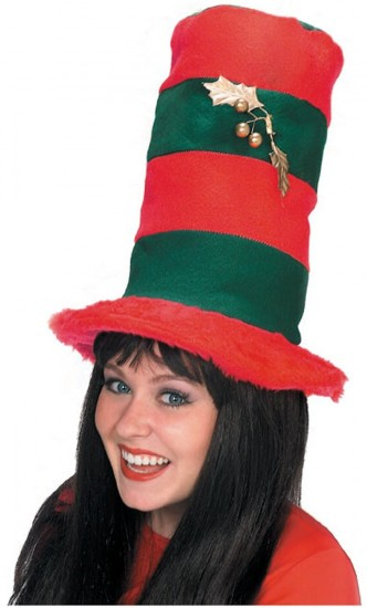 Striped Christmas Top Hat