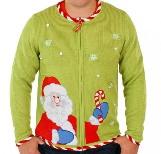 Ugly Christmas  Santa Cardigan