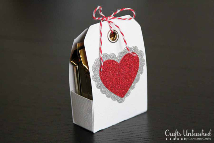 Valentine tag treat holder Crafts