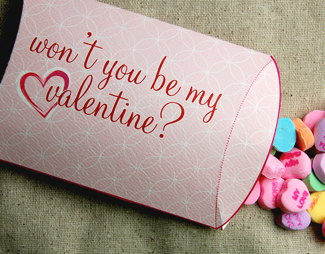 Valentines day Pillow Box Gift Wrapping