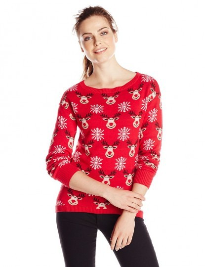 Women's All Over Reindeers Ugly Christmas Sweater