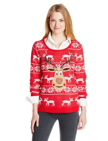 Women's Rudolph Ugly Christmas Sweater