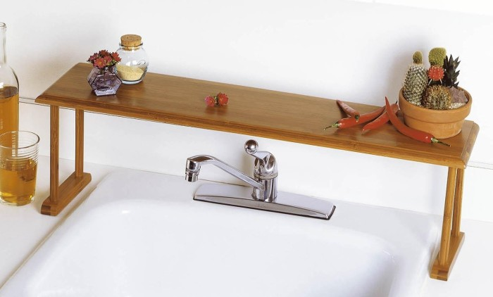 Bamboo Over-The-Sink Shelf