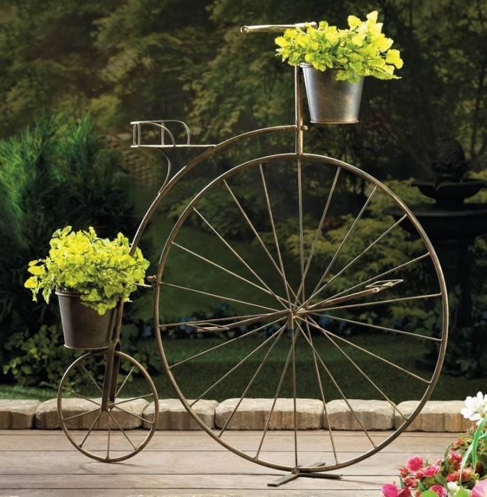 Bicycle Plant Stand Planter