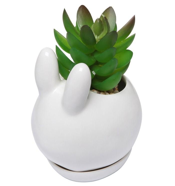 Bunny Rabbit Design Flower Pot
