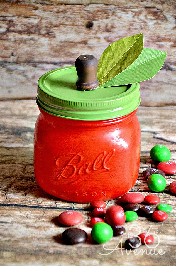 DIY Apple Mason Jar
