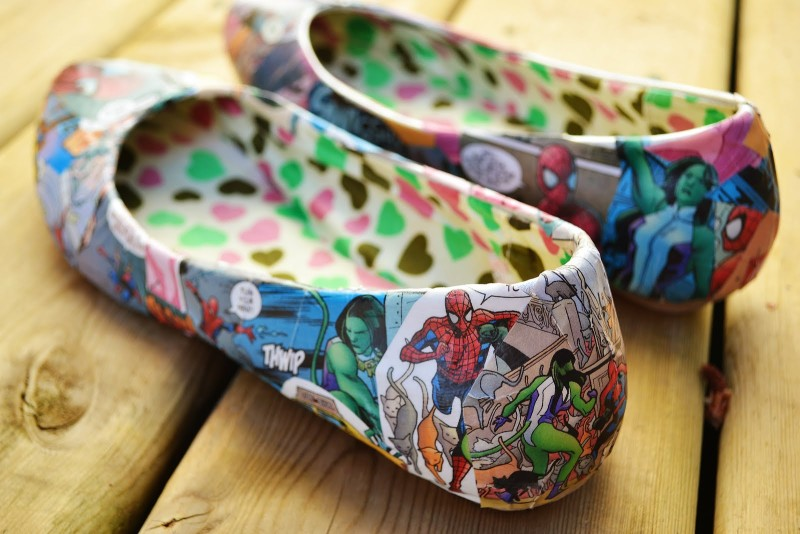 DIY Comic Book Shoes