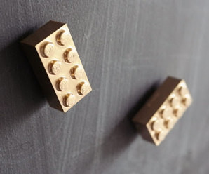DIY Golden Lego Magnets for Lego Lovers