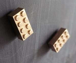 DIY Golden Lego Magnets for Lego Lovers
