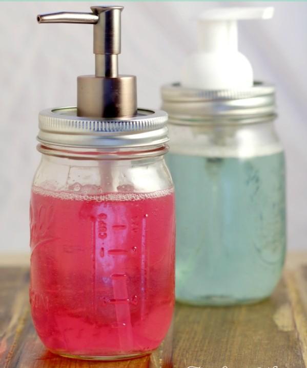 DIY Mason Jar Soap Pumps